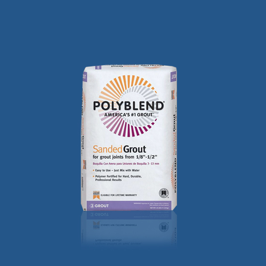 polyblend grout mixing instructions