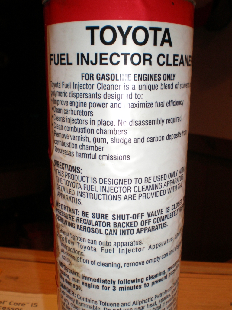 fuel system cleaner instructions