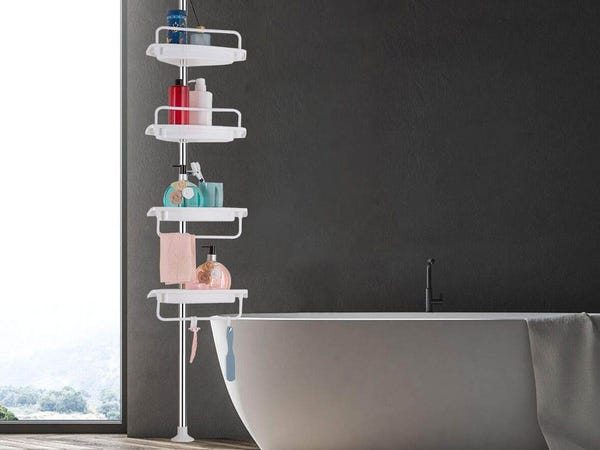 tension shower caddy instructions