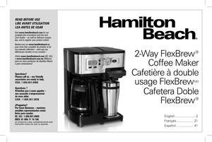 hamilton beach brewstation instructions