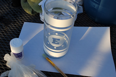 glass etching cream instructions