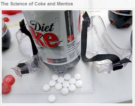 mentos and coke instructions