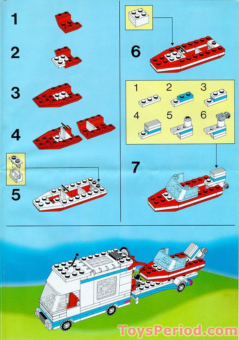 lego van and caravan instructions