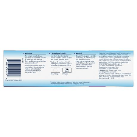 ovulation test instructions clear blue