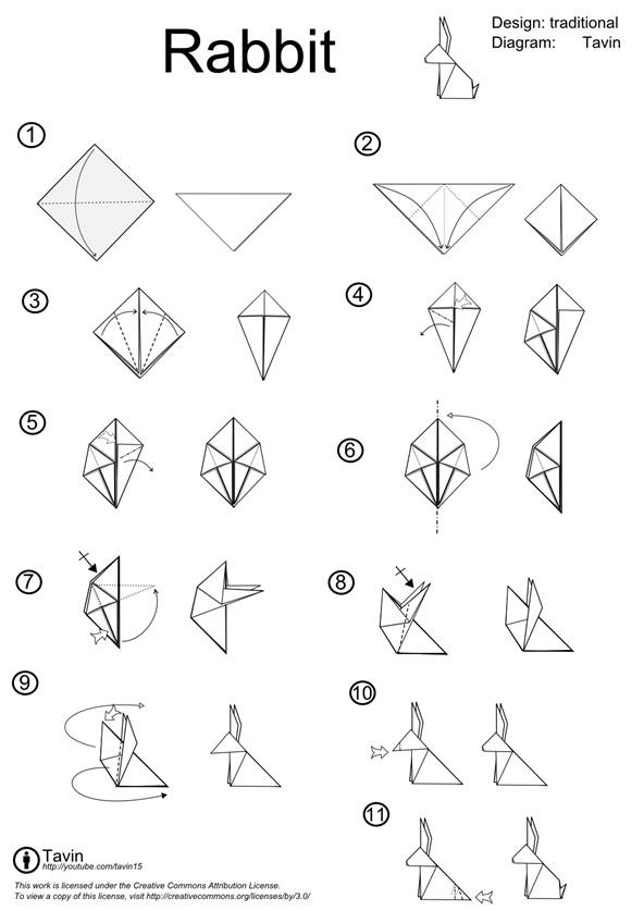 easy origami bunny instructions
