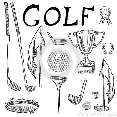 how to draw the golf ball instructions
