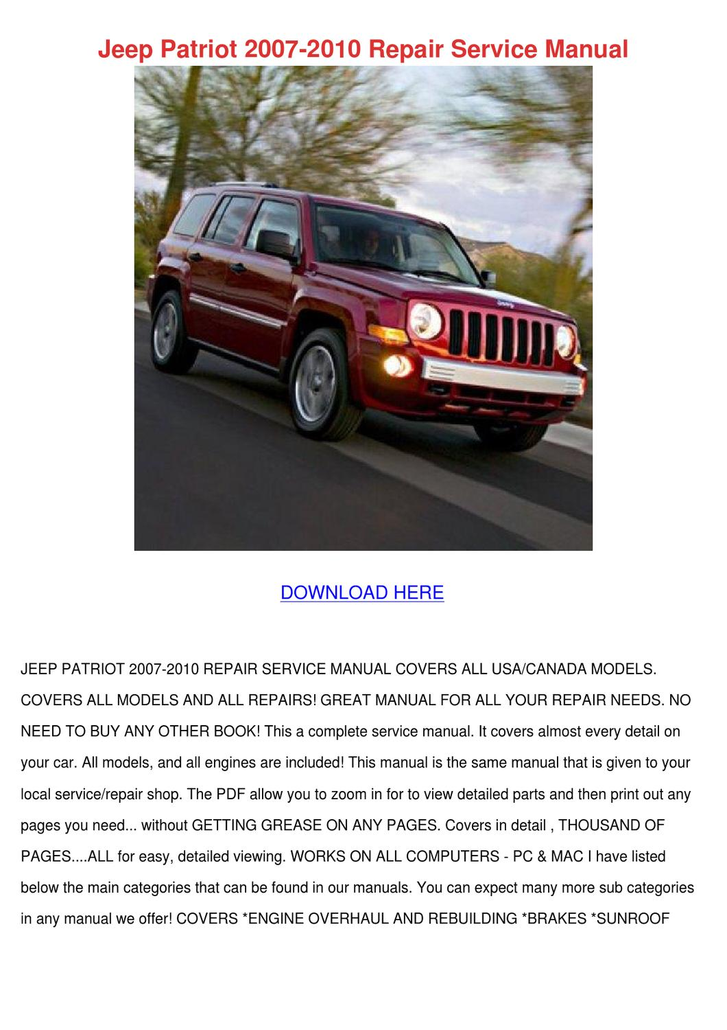 jeep patriot mirror replacement instructions