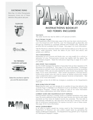 pa income tax instructions